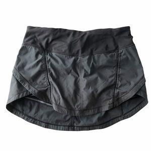 Lululemon Black Running Skirt with Shorts Under 6